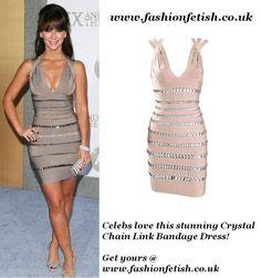 Buy this Crystal Chain Link Bandage Dress @ www.fashionfetish.co.uk