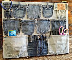 Redo It Yourself Inspirations : DIY Repurposed Denim Wall Organizer