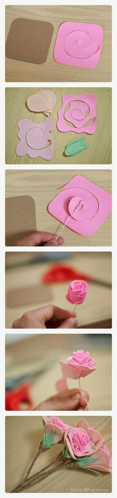 Everything about making flowers out of felt - patterns, templates and…