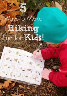 5 Ways to Make Hiking fun for Kids - has a great free printable activity included!
