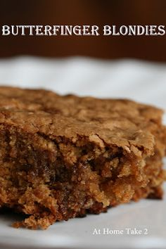 Blondie with Oatmeal. Butterfinger candy bar meets blondie ...
