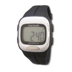 Smart Health Digital Pedometer Heart Rate Watch (Black) >>> Click on the image for additional details.