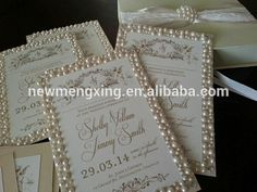 Source The Great Gatsby styled wedding invitation cards with pearls and gold accents on m.alibaba.com