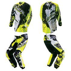 O'Neal Element Hi-Viz Green Motocross Off-Road Dirtbike Gear Jersey Pants Combo #ONeal #OffRoadGear