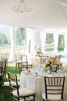 A tented wedding reception   /kateholstein/   http://Brides.com