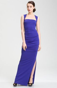Nicole Miller Open Back Jersey Gown available at #Nordstrom