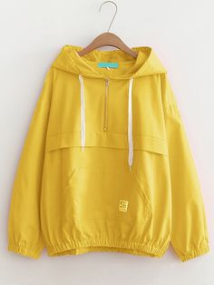 To find out about the Drawstring Hoodie Zip Front Jacket at SHEIN, part of our latest Jackets ready to shop online today! Hoodie Jacket, Zip Hoodie, Rain Jacket, Cardigan Shirt, Anorak Jacket, Mode Simple, Jackets For Women, Clothes For Women, Men's Jackets