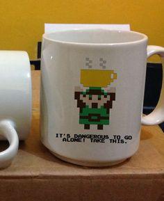 it's dangerous to go alone take this zelda Mug Two Sides Ceramic 11oz