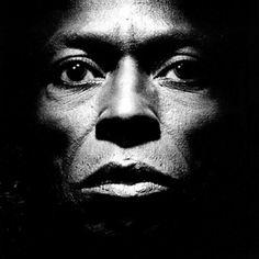 Miles Davis - luv this stark view of Miles!