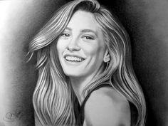 Zeichnen Serenay Sarıkaya – serkan anlar – Join the world of pin Realistic Pencil Drawings, My Drawings, Black Pencil, Drawing Poses, Black Art, Silhouette Cameo, Serum, Pop Art, Sketches