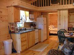 Tiny Cabin Kitchen Interior