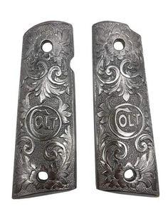Gorgeous Colt Logo White Pearl Resin Grip For Colt 1911 Kimber Clones Handmade