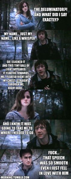 bahahahaha! YES! <3 Ron Weasley.