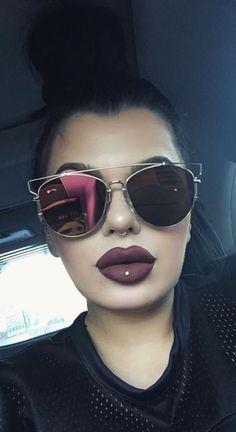 I got that lip piercing Makeup Goals, Makeup Tips, Beauty Makeup, Hair Makeup, Hair Beauty, Makeup Ideas, Kily Jenner, Style Tumblr, Shady Lady