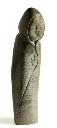"Africa   ""Old woman in a blanket"" by Shona artist Henry Munyaradzi (Zimbabwean 1931 - 1998)   Steatite stone"
