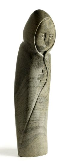 "Africa | ""Old woman in a blanket"" by Shona artist Henry Munyaradzi (Zimbabwean 1931 - 1998) | Steatite stone"