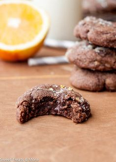 Does Santa bring you a Christmas orange every year? Who are the lucky ones that get their stalking stuffed with a chocolate Christmas orange? You know, the orange-flavored chocolate that's in the. Holiday Baking, Christmas Baking, Christmas Treats, Christmas Cookies, Christmas Decorations, Cookie Desserts, Cookie Recipes, Dessert Recipes, No Bake Cookies