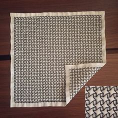 """A windmill pattern from Ambiru.thebase.in/blog   Of Ayako Sashiko   WINDMILLS and comment says """"A staggered grid."""""""