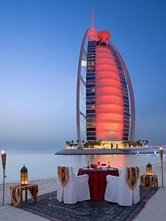 Burj Al Arab, Dubai, United Arab Emirates. At 321 m (1,053 ft), it is the fourth tallest hotel in the world.