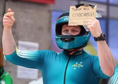 Pilot Heath Spence of Australia team 1 shows a message as he finishes a run during the Men's Two-Man Bobsleigh (c) Getty Images Bobsleigh, Olympic Athletes, Two Men, Winter Olympics, Running, Sports, Pilot, Australia, Winter Olympic Games