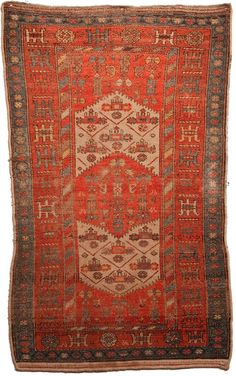 4.5 x 6.5 Handmade Persian Antique Rug