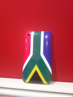 Capa Rígida Bandeira da África do Sul para iPhone 3/3GS