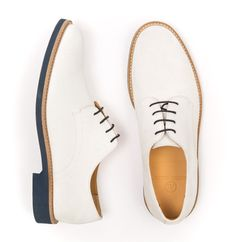 Austen Heller Bucks - White Suede White Buck Shoes, Men's Shoes, Dress Shoes, Saddle Oxfords, Best Shoes For Men, Oxford White, Suede Leather, Loafers Men, Oxford Shoes