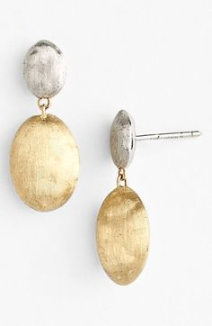 Marco Bicego 'Siviglia' Two-Tone Drop Earrings (Nordstrom Exclusive) available at #Nordstrom