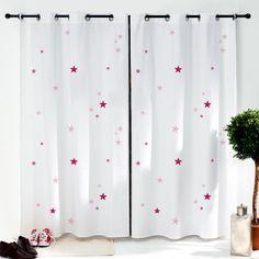 cette paire de rideaux toiles roses pour chambre denfant sera parfaite pour complter une