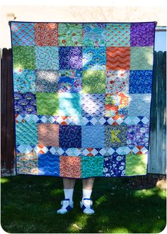 Kortney�s Quilt: Purple, Kate Spain, and Good Fortune