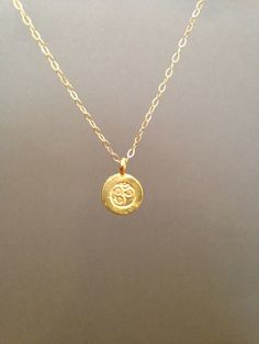 Ohm Circle Disc Necklace