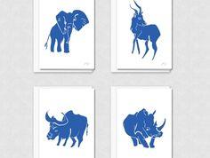 Safari MATISSE greeting cards - Set of 4  *internationa shipping available*