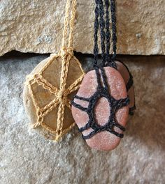 Montana River Rock Necklace Black by TheTreeFolkHollow on Etsy, $15.00