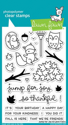 Lawn Fawn - Clear Acrylic Stamps - Jump for Joy