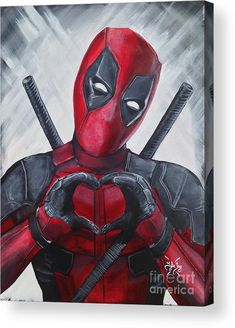 Deadpool Love Acrylic Print by Tyler Haddox. All acrylic prints are professionally printed, packaged, and shipped within 3 - 4 business days and delivered ready-to-hang on your wall. Choose from multiple sizes and mounting options. Cute Deadpool, Deadpool Und Spiderman, Deadpool Fan Art, Deadpool Tattoo, Deadpool Drawings, Deadpool Quotes, Deadpool Wallpaper, Marvel Wallpaper, Marvel Art