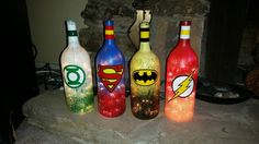 Superhero Series by TheBottleArtCompany on Etsy