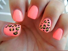 22 Leopard Print Nail Polish Ideas I just like the color not the leopard.
