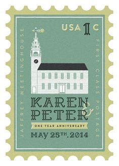 Wedding Anniversary Stamp   Peter M Clark - Philadelphia Designer & Illustrator