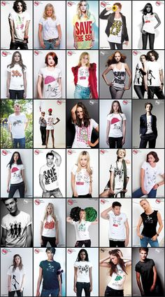 We're looking back at all the fantastic bespoke t-shirt designs which have been created #JustFor EJF over the years. 27 t-shirts by 23 designers, modeled by 85 stars of the stage, screen and catwalk. www.just-for.co.uk