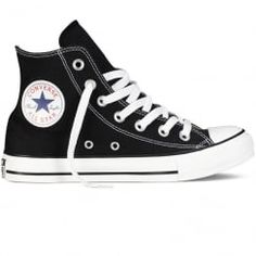 Converse Black All Star Hi Trainers. Available now at www.brother2brother.co.uk
