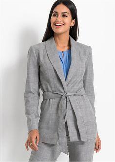 Jetzt anschauen: Blejzr nemá kapsy, zavazuje se páskem a má ozdobný límec s klopami. Délka ve vel. 38 cca 72 cm. Suit Jacket, Blazer, Suits, Outfit, Jackets, Women, Fashion, Elegant, Alteration Shop