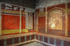 https://flic.kr/p/xtBBQy | House of Augustus, North-east corner of the Lower cubiculum with architectural decoration, Palatine Hill, Rome