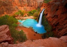 Havasu Falls, Arizona (Photo by Arun Sundar) Oh The Places You'll Go, Places To Travel, Places To Visit, Dream Vacations, Vacation Spots, National Geographic, Havasupai Falls, Havasupai Arizona, The Great Outdoors