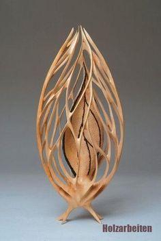 "*Wood Sculpture - ""Seed Spirit"" by Neil Turner - Holzschnitzen , Abstract Sculpture, Wood Sculpture, Metal Sculptures, Bronze Sculpture, Wooden Projects, Wood Crafts, Objet Deco Design, Organic Art, Got Wood"