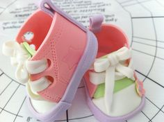 Gum Paste Baby Shoe Converse Style by Divine Sweets by Martha, via Flickr