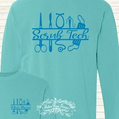 065fa63078 Scrub Tech Surgical Tech Customized Personalized Monogrammed Comfort Colors  by AutumnReeseDesigns on Etsy Surgical Tech,