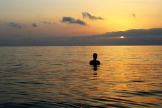 Blissful August dawn swim at Playa de las Arenas, Valencia.