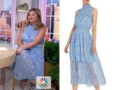 Blue Midi Dress, Floral Midi Dress, Jenna Bush Hager, Rent The Runway, Today Show, Saks Fifth Avenue, Style Inspiration, Summer Dresses, Tv