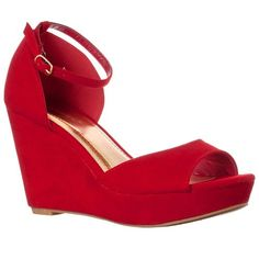 Red Suede Wedge Sandals by Riverberry. Buy for $29 from buy.com