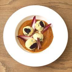 Fresh Ricotta Gnudi, Pumpkin & Chicory #seasonal #fromscratch #organic #vegetarian, Rose Bakery, London.